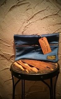 """◆ """" 刺し子 Clutch Bag & Pouch Bag"""" by ROYAL KHAKI ◆"""